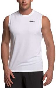 asics sleeveless technical running t shirt