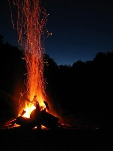 wildcamping fire