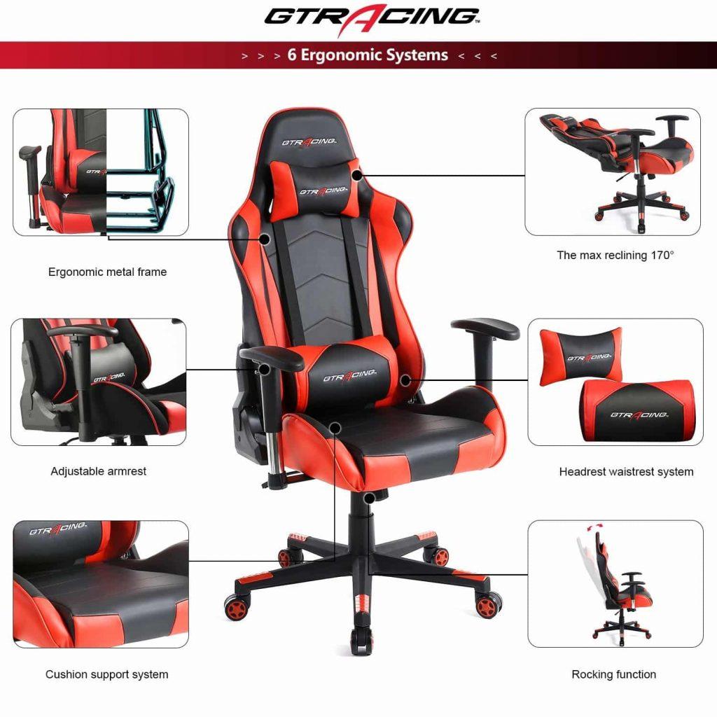 GTracing Ergonomic Gaming Recliner - comfort