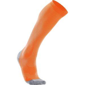 orange compression socks