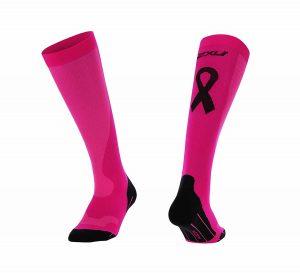 pink compression socks for running