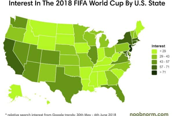 fifa world cup interest by state
