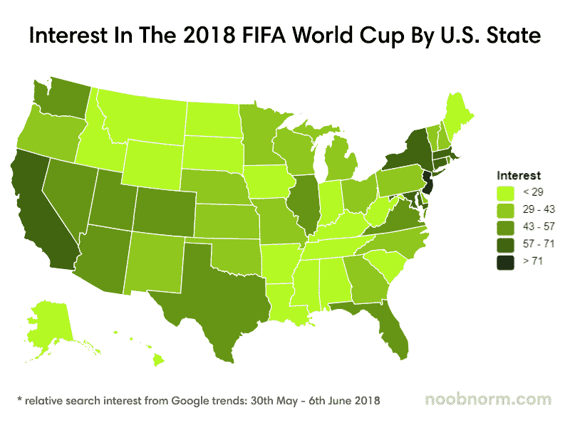 interest in the 2018 world cup by state