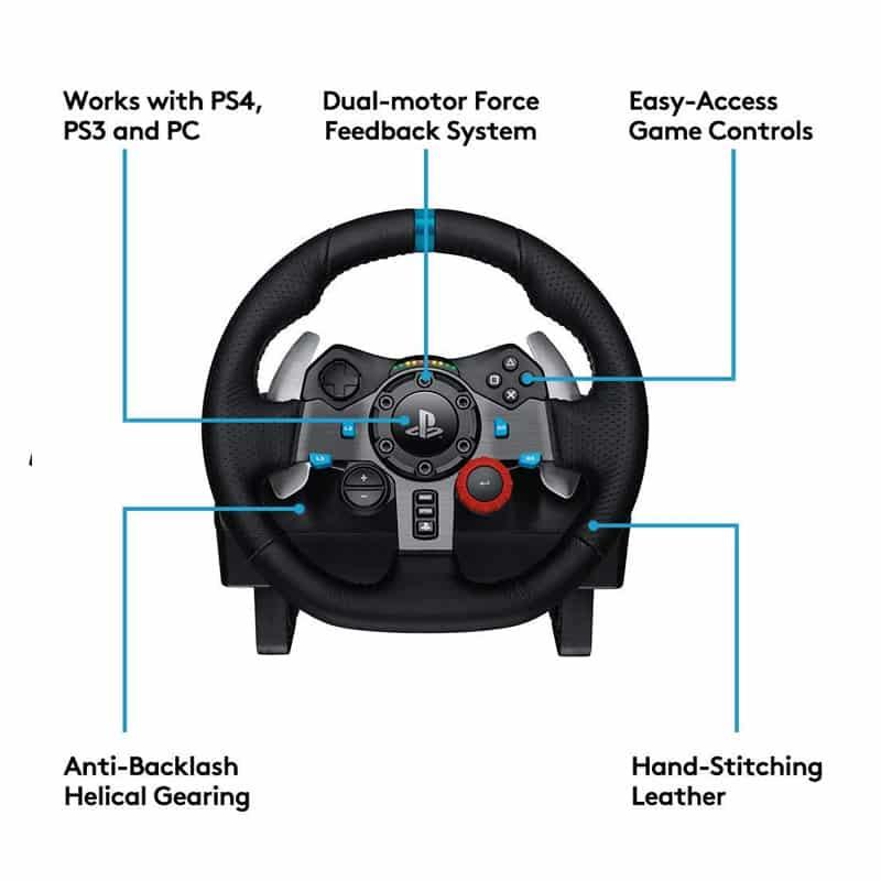 logitech g29 wheel controls