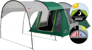 Coleman Granite Peak Tent with Blackout Bedrooms for camping